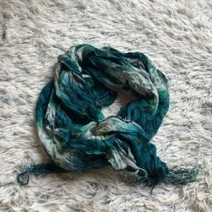 Gorgeous Blue & Green Toned Peacock Scarf